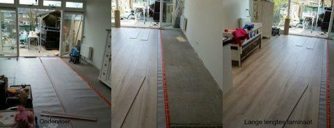 Nieuwe laminaat vloer in prachtige aanbouw gelegd