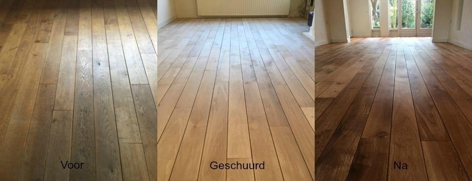 Van oud naar Nieuw ( houten vloer geschuurd)