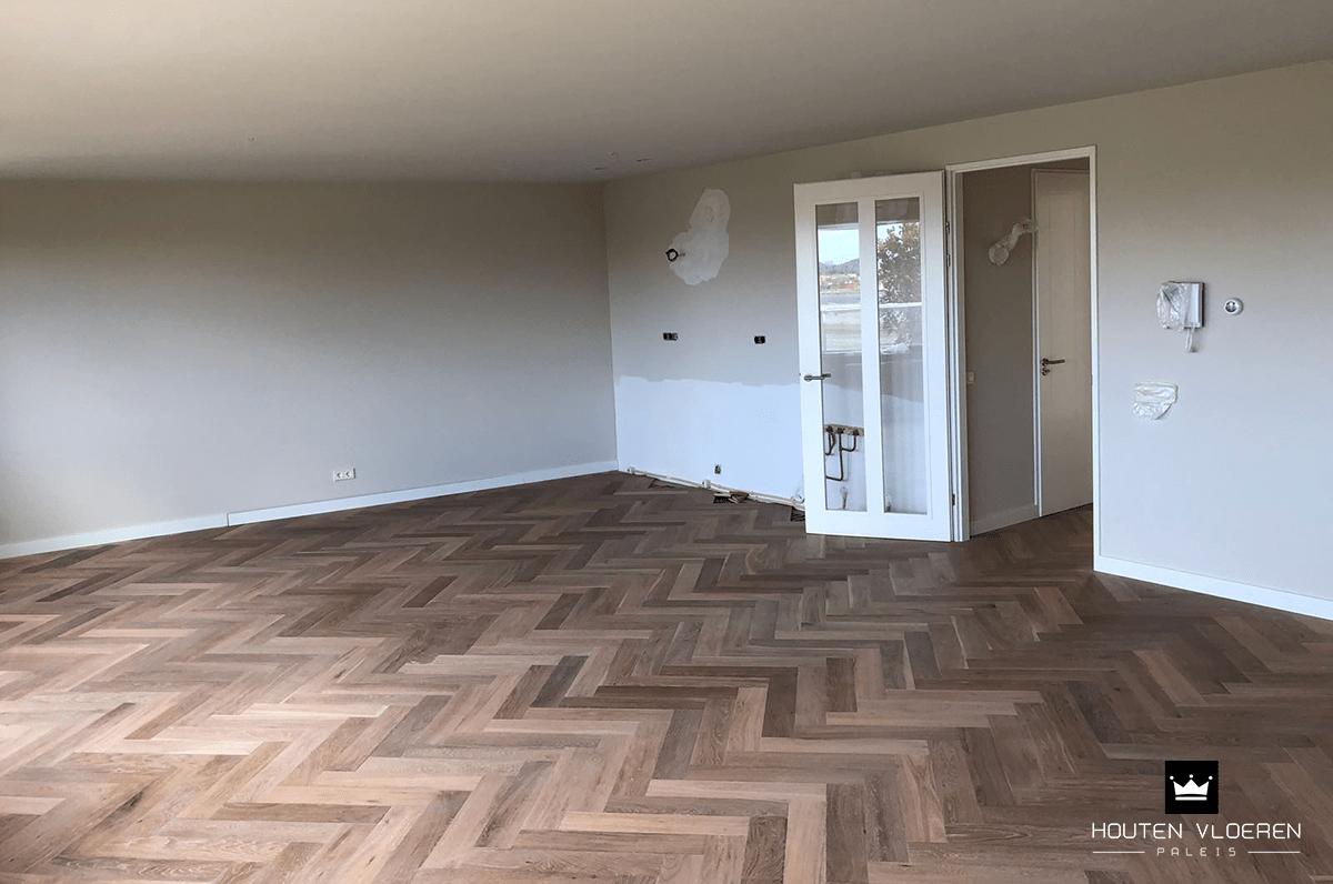 Visgraat vloer leggen in appartement september 2018 hvp